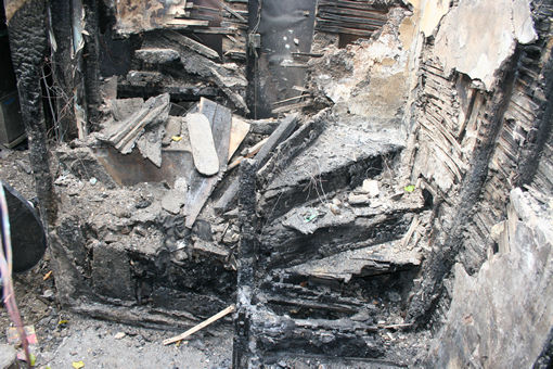 recording fire damaged historic buildings